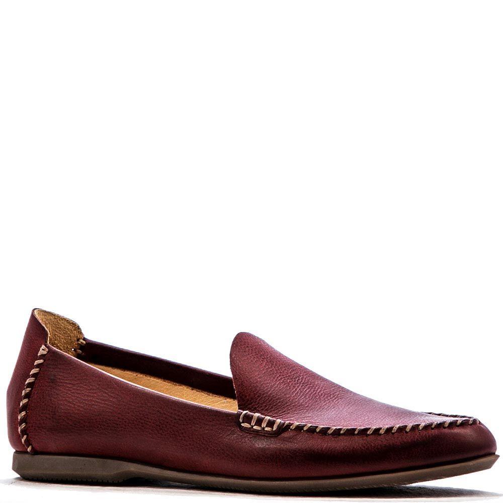 Кожаные мужские лоферы Modus Vivendi бордово-коричневого цвета