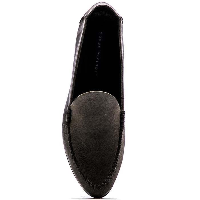 Кожаные лоферы Modus Vivendi глубокого серого цвета