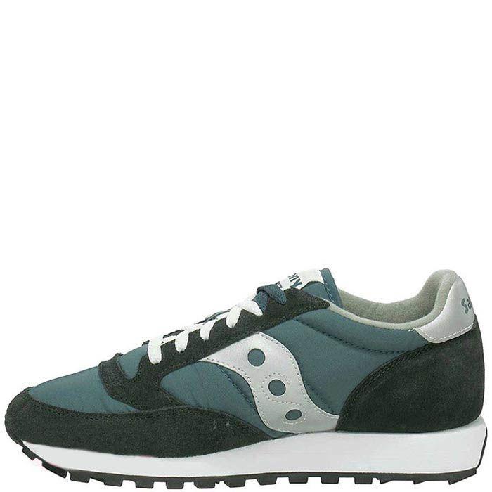 Мужские кроссовки Saucony Jazz Original темно-зеленые с белым