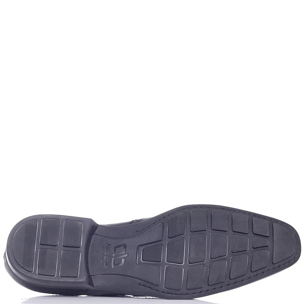 Черные туфли-броги Aldo Brue с вытянутым носком