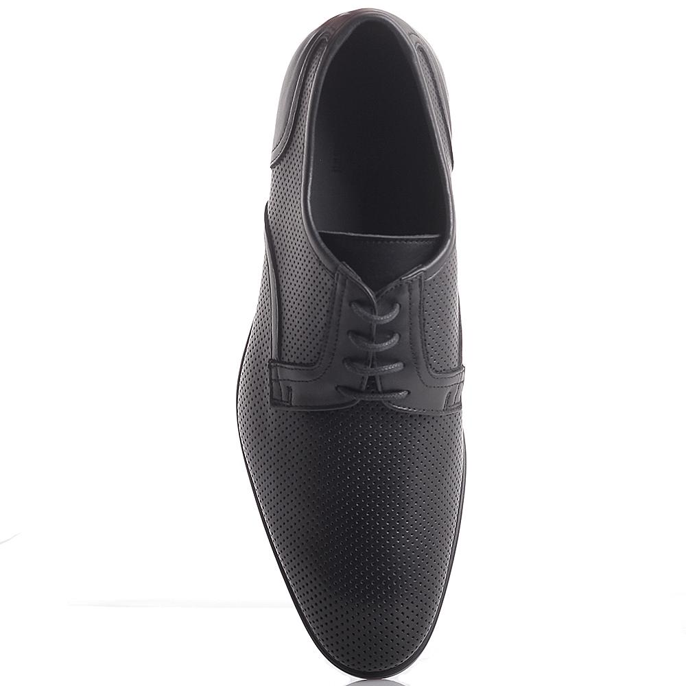 Перфорированные туфли Dino Bigioni черного цвета