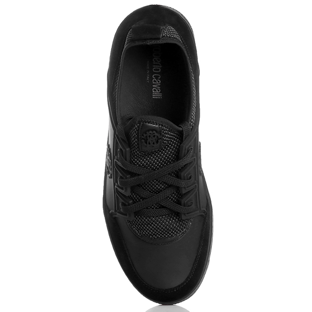 Черные кеды Roberto Cavalli на шнуровке