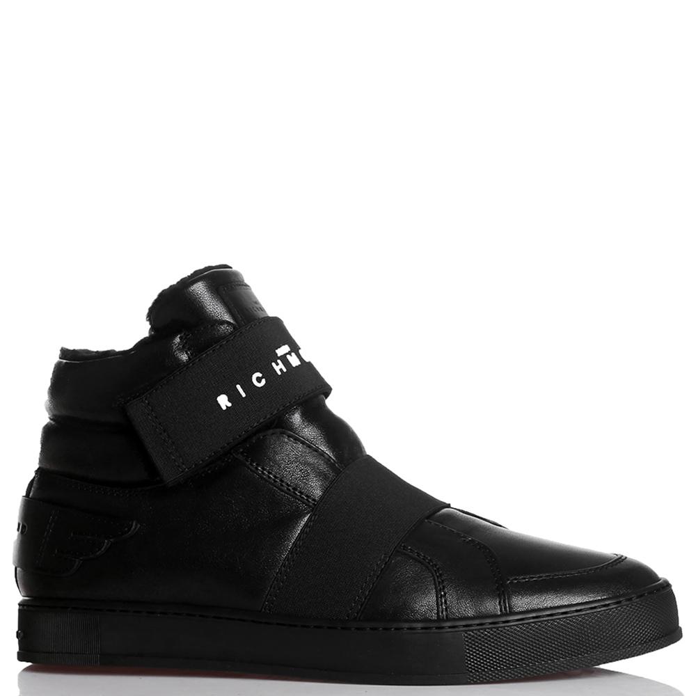 Черные ботинки John Richmond на липучке