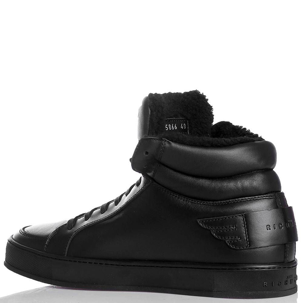 Черные ботинки John Richmond с вышивкой-череп