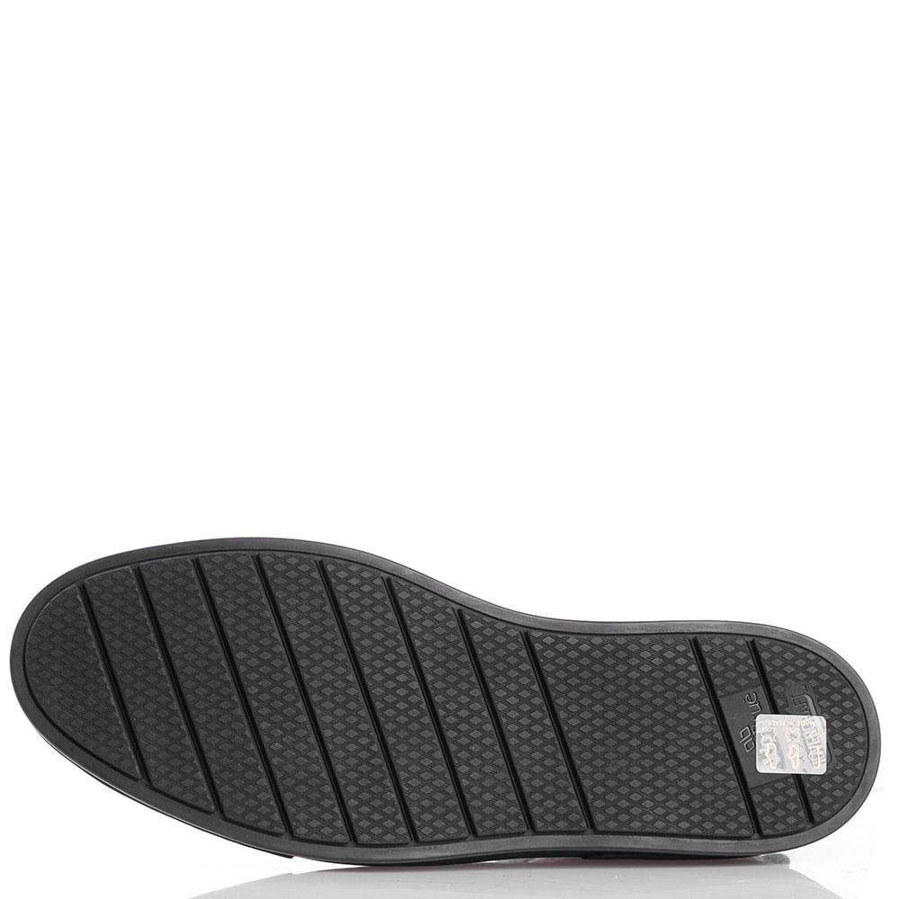 Зимние ботинки с декоративной строчкой Aldo Brue из зернистой кожи черного цвета
