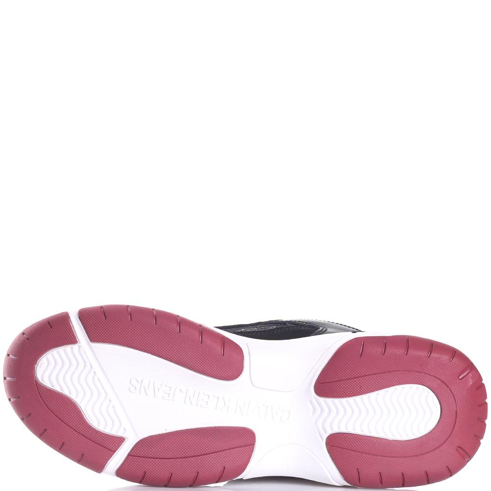 Кроссовки Calvin Klein на белой подошве с красными вставками