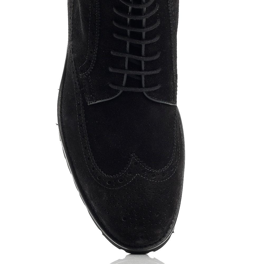 Ботинки-броги Giampiero Nicola черного цвета