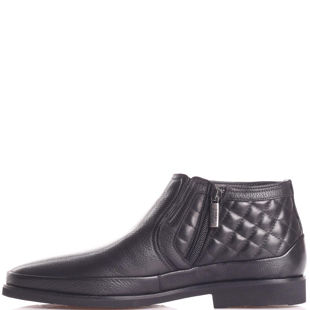 Черные ботинки Luigi Traini из стеганой кожи