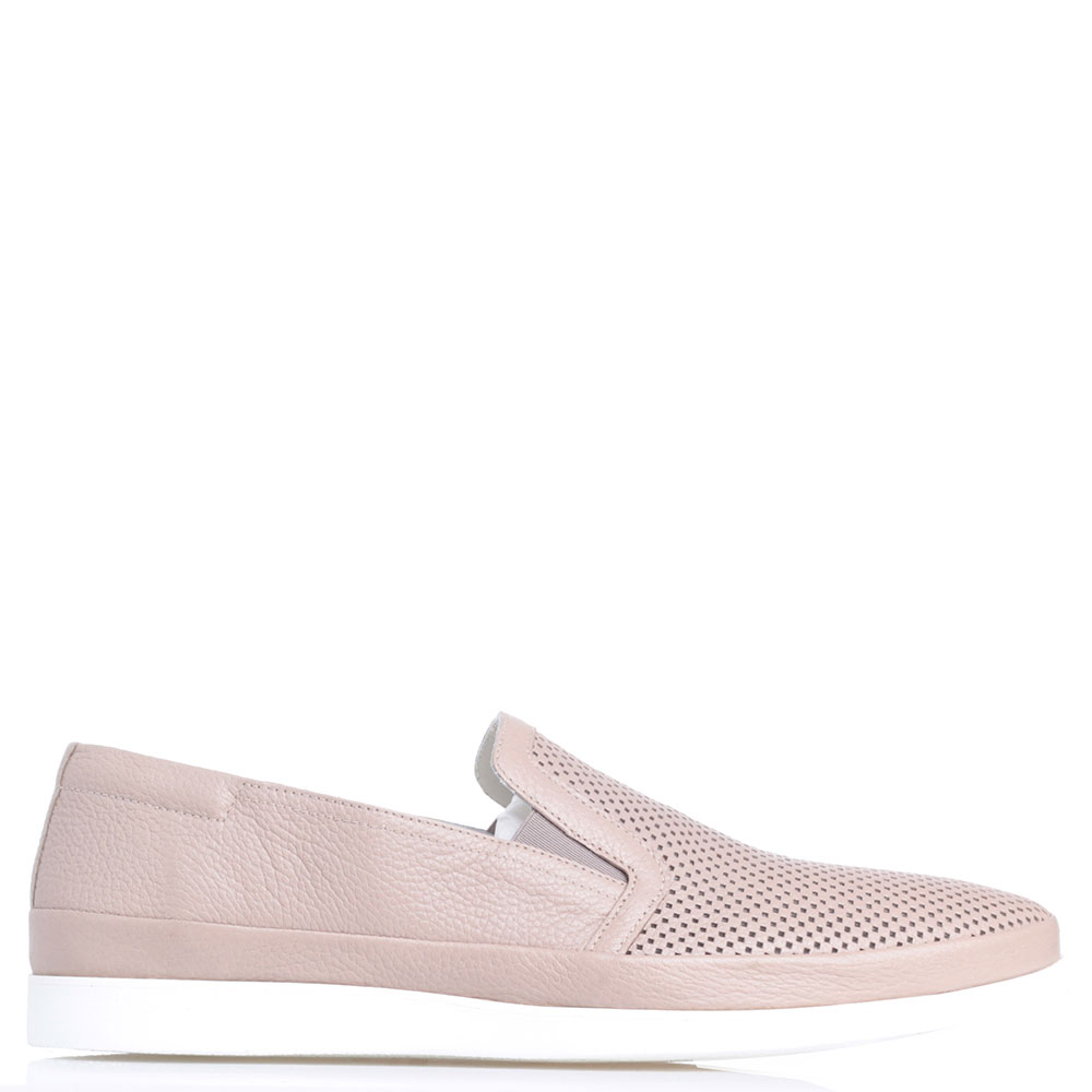 Бежевые туфли Luigi Traini из зернистой кожи