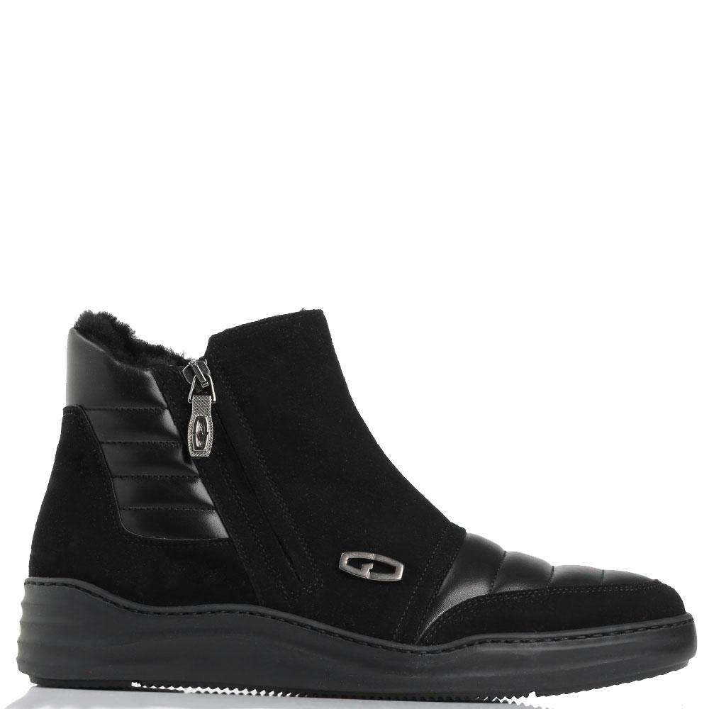 Замшевые ботинки Giovanni Conti с металлическим декором