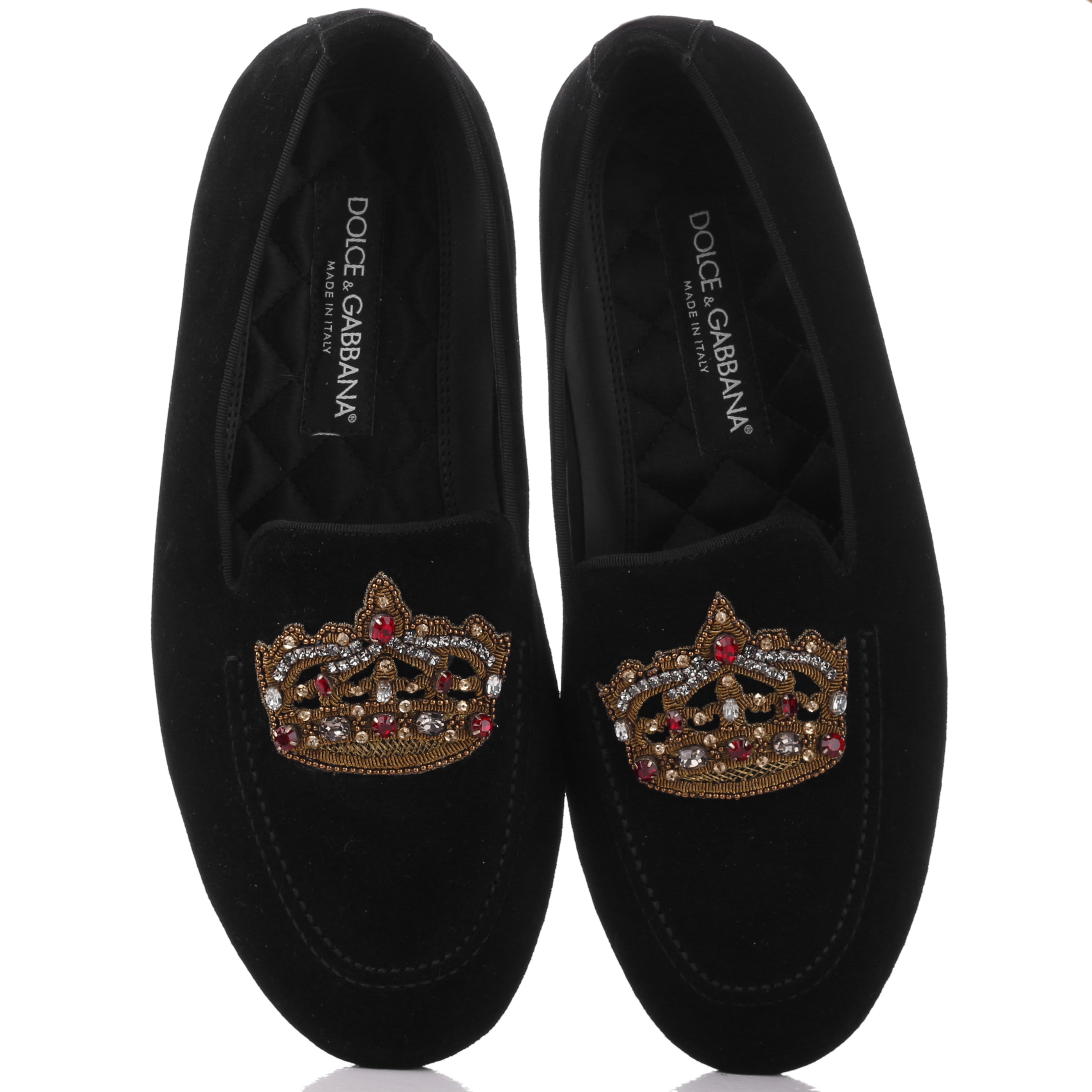 Лоферы Dolce&Gabbana с вышивкой-короной