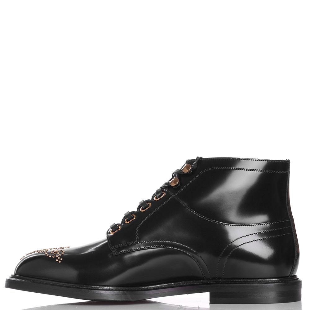 Мужские ботинки Dolce&Gabbana с золотистым декором на носке