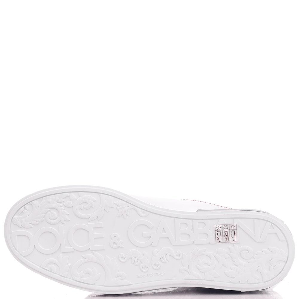 Белые кеды Dolce&Gabbana с принтом