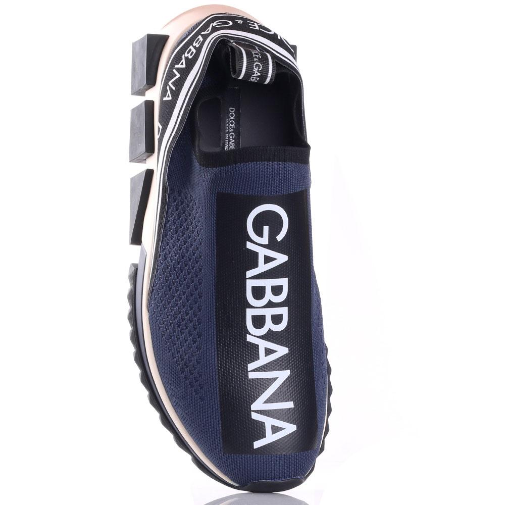 Кроссовки Dolce&Gabbana синего цвета с логотипом