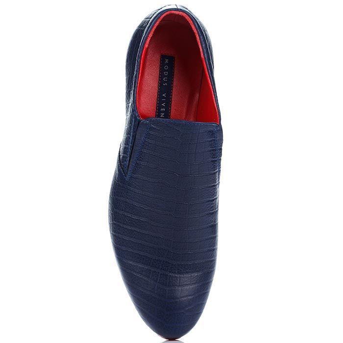 Мужские туфли-мокасины Modus Vivendi сине-красные