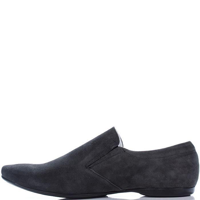 Замшевые туфли Modus Vivendi темно-серого цвета