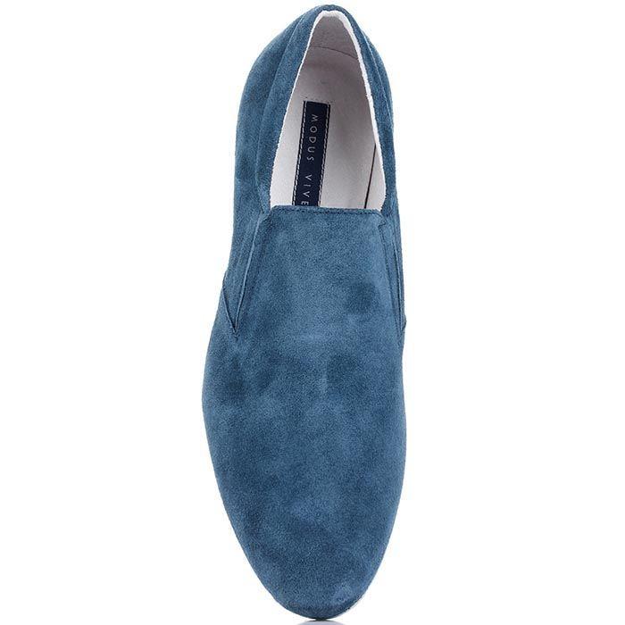 Туфли Modus Vivendi из натуральной замши синего цвета