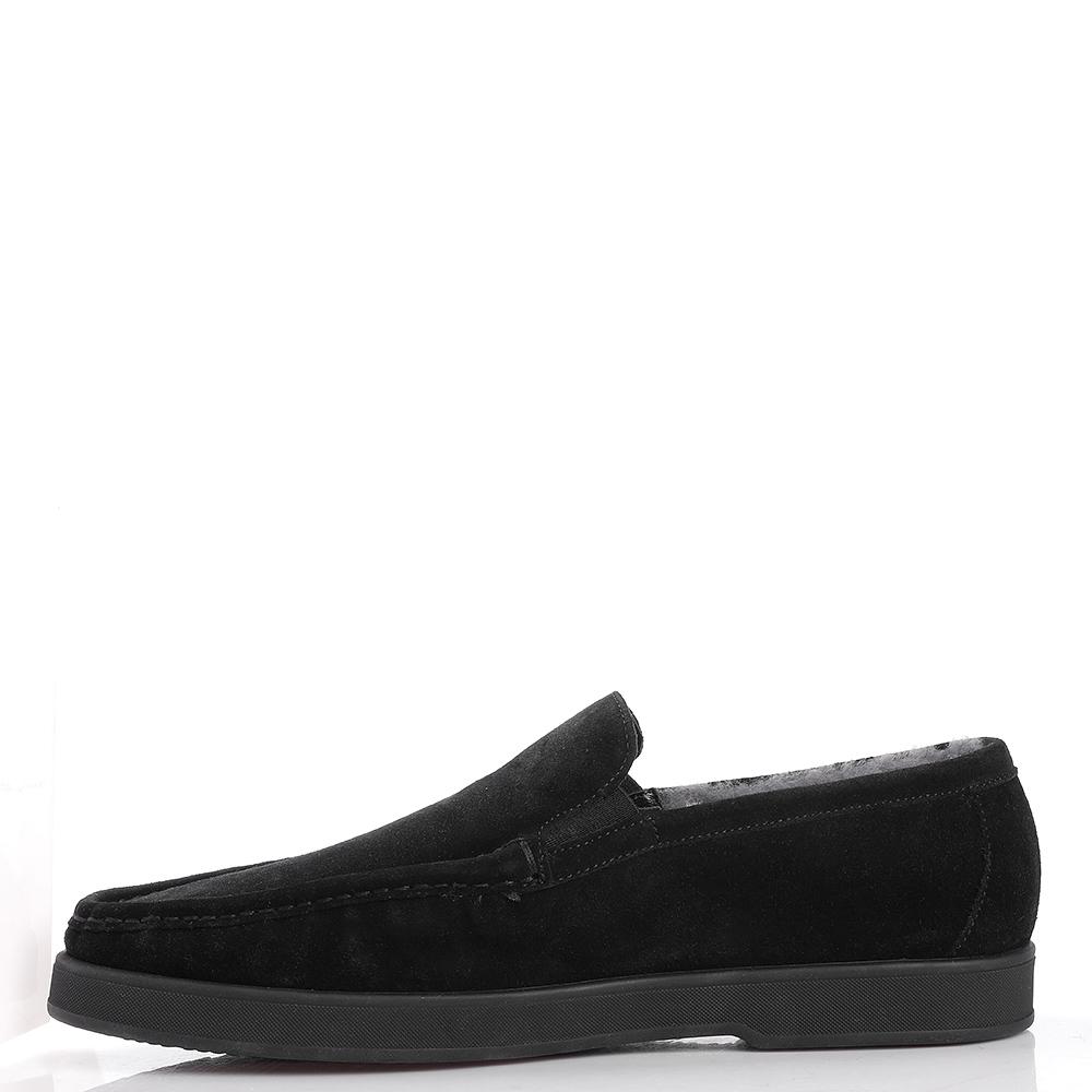 Утепленные туфли Aldo Brue из черной замши