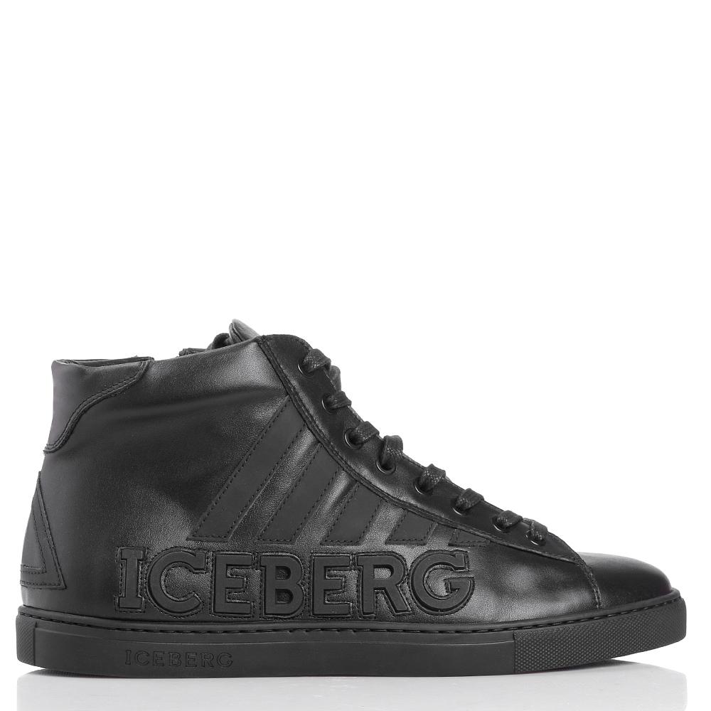 Высокие кеды Iceberg из гладкой кожи