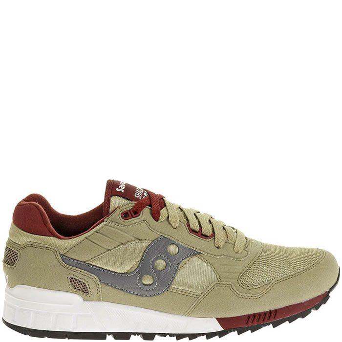 Мужские кроссовки Saucony Shadow 5000 бежевые с красным