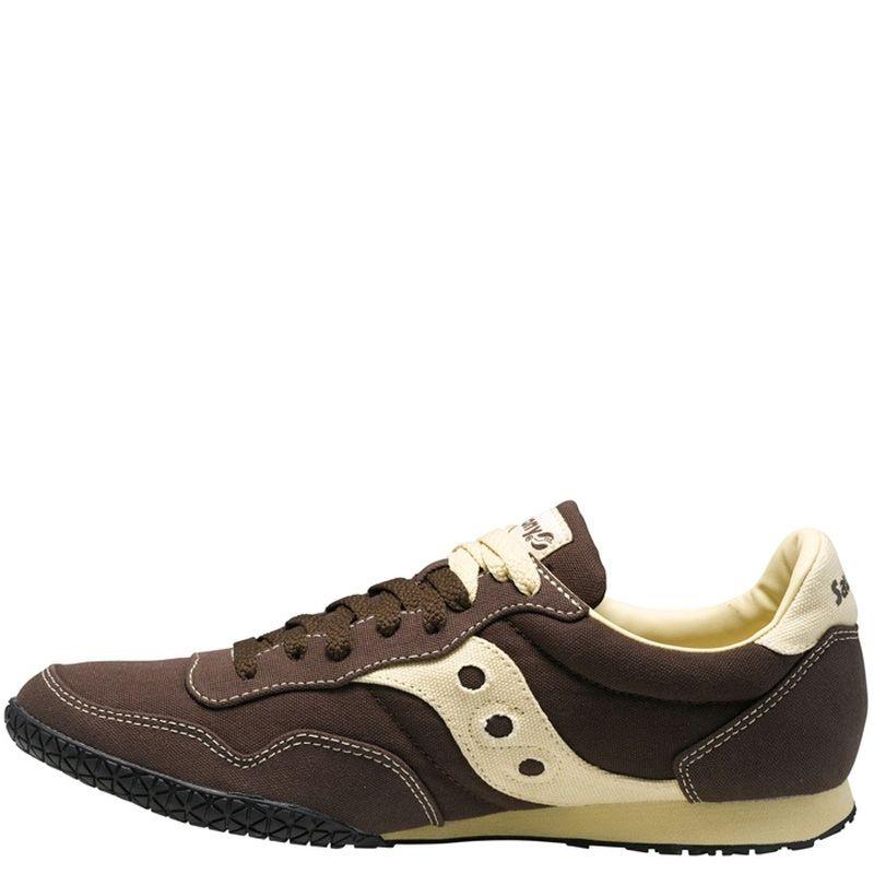 Мужские кроссовки Saucony Bullet Vegan коричневые с кремовыми вставками