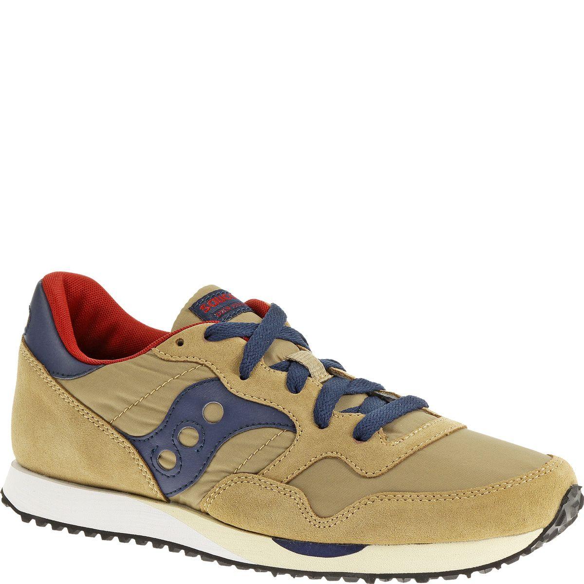 Мужские кроссовки Saucony DXN Trainer бежевые с темно-синим