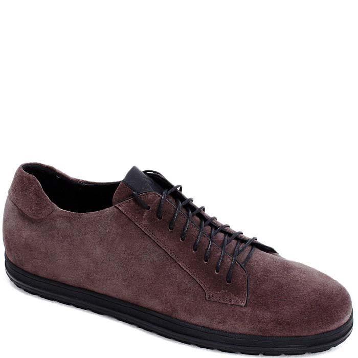 Туфли Modus Vivendi спортивного стиля из замши коричневого цвета