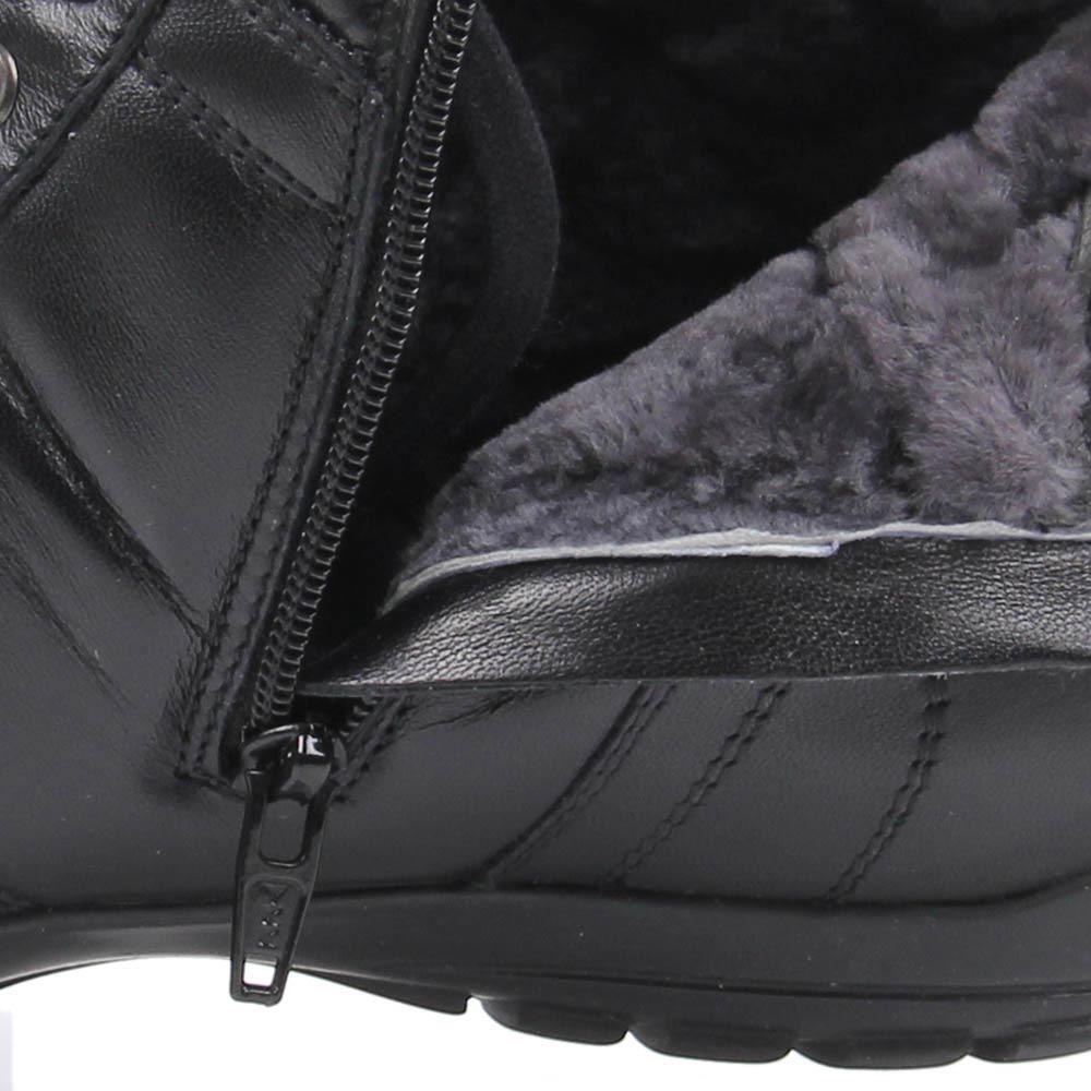 Кроссовки Baldinini высокие кожаные черного цвета с фирменной шильдой