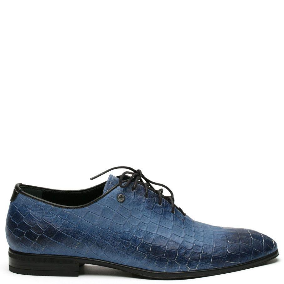 Туфли Modus Vivendi глубокого голубого цвета с синими подпалами