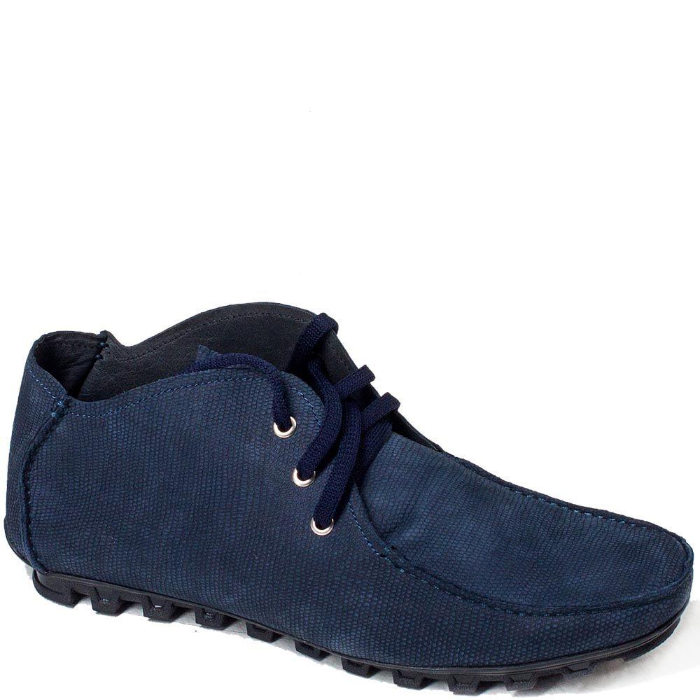 Мужские мокасины Modus Vivendi из нубука синего цвета