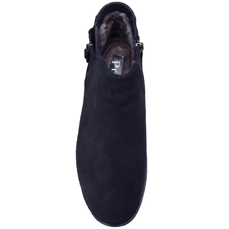 Ботинки Prego из натуральной замши синего цвета
