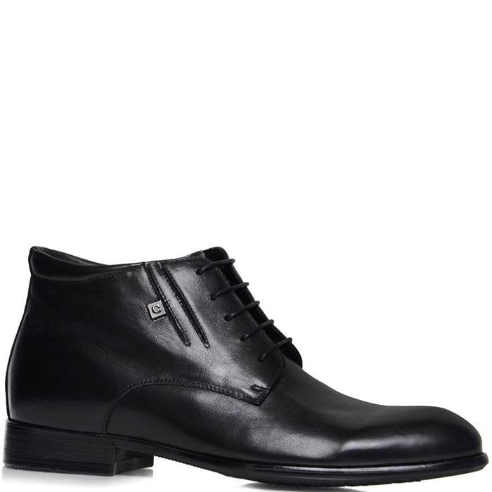 Зимние ботинки Prego из натуральной кожи черного цвета