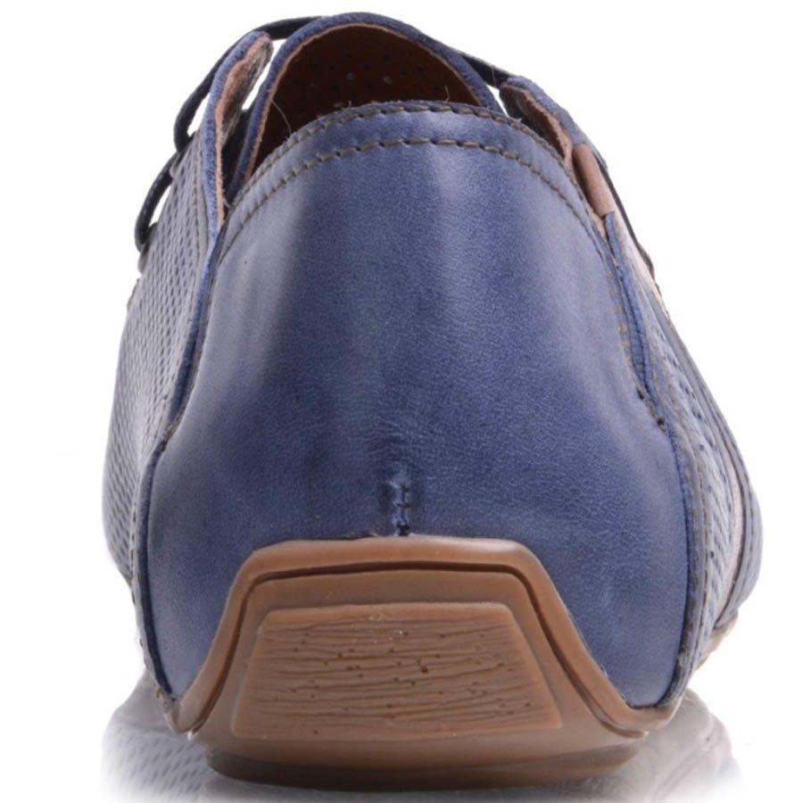 Мокасины Prego мужские синего цвета кожаные