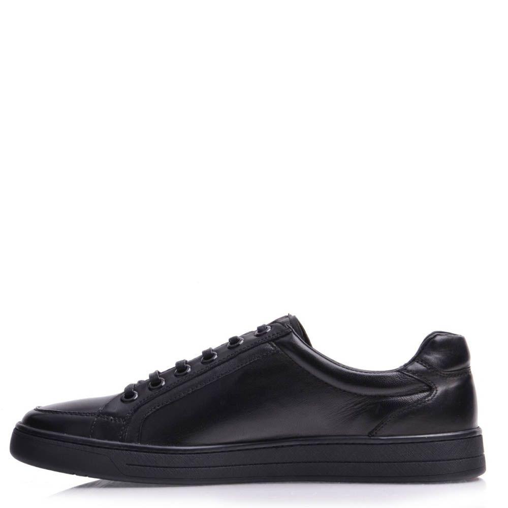 Кеды Prego мужские кожаные черного цвета