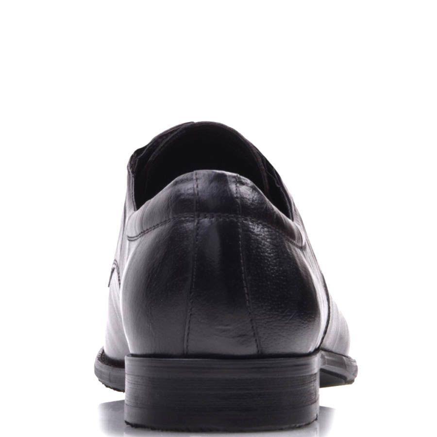 Туфли-броги Prego коричневого цвета гладкие со шнуровкой и резинками по бокам и с перфорацией на носке