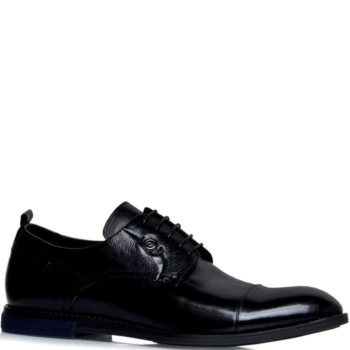 Туфли из полированной кожи Prego черного цвета