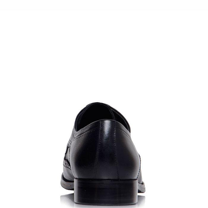 Кожаные туфли-броги Prego черного цвета