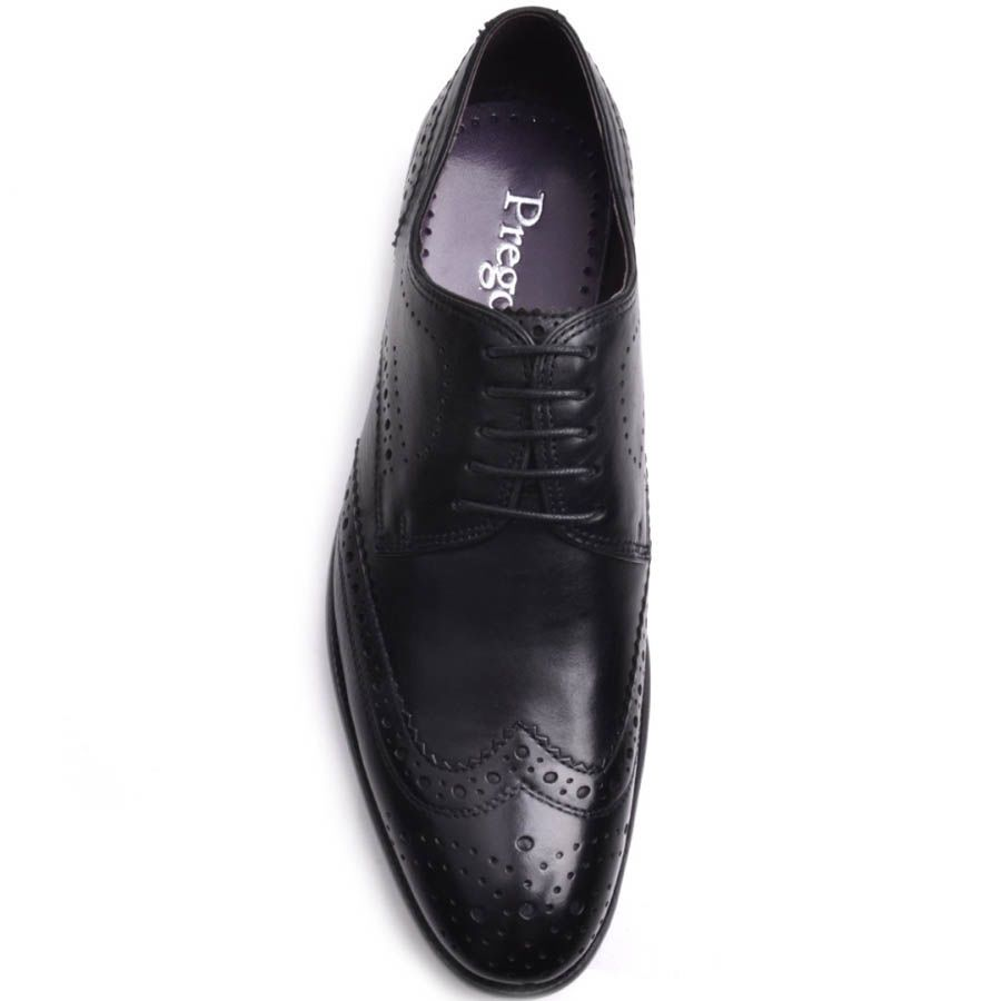 Броги Prego мужские классические черного цвета