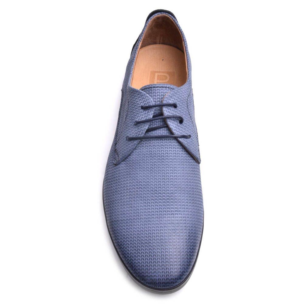Туфли Prego мужские синего цвета в мелкий узор