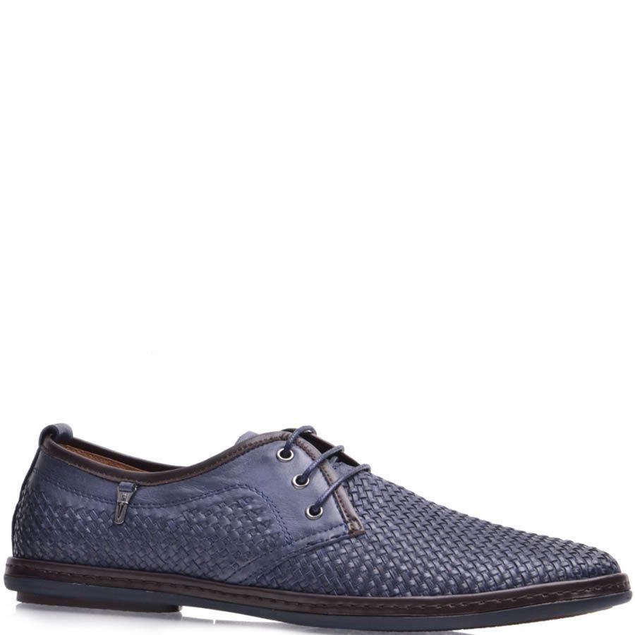 Туфли Prego мужские синего цвета с плетением
