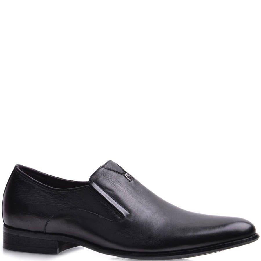 Туфли Prego мужские черного цвета без шнуровки