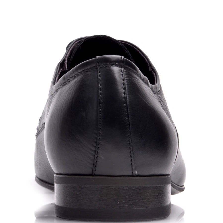 Туфли Prego мужские классические черного цвета с узким носком