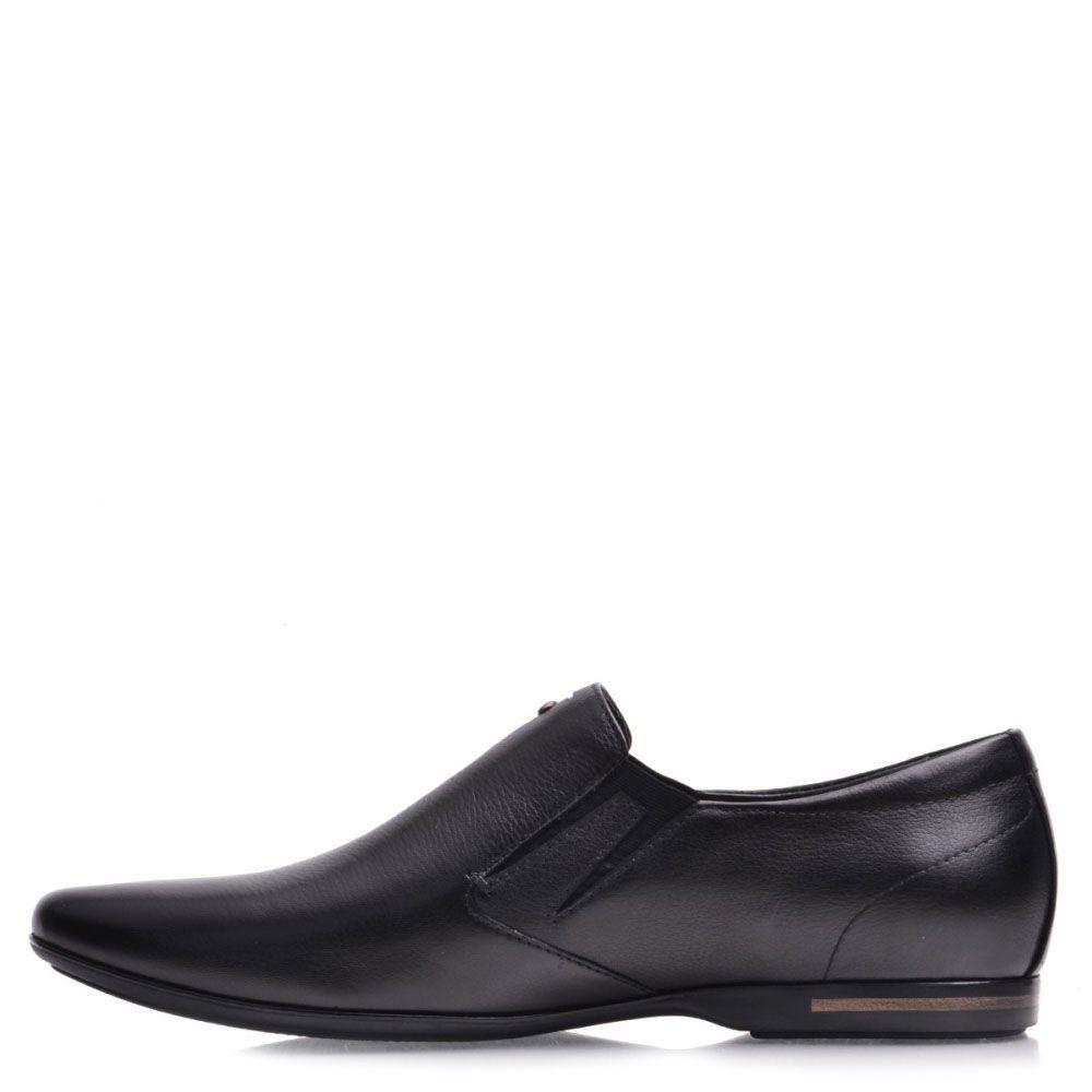 Туфли Prego из кожи черного цвета со вставками-резинками