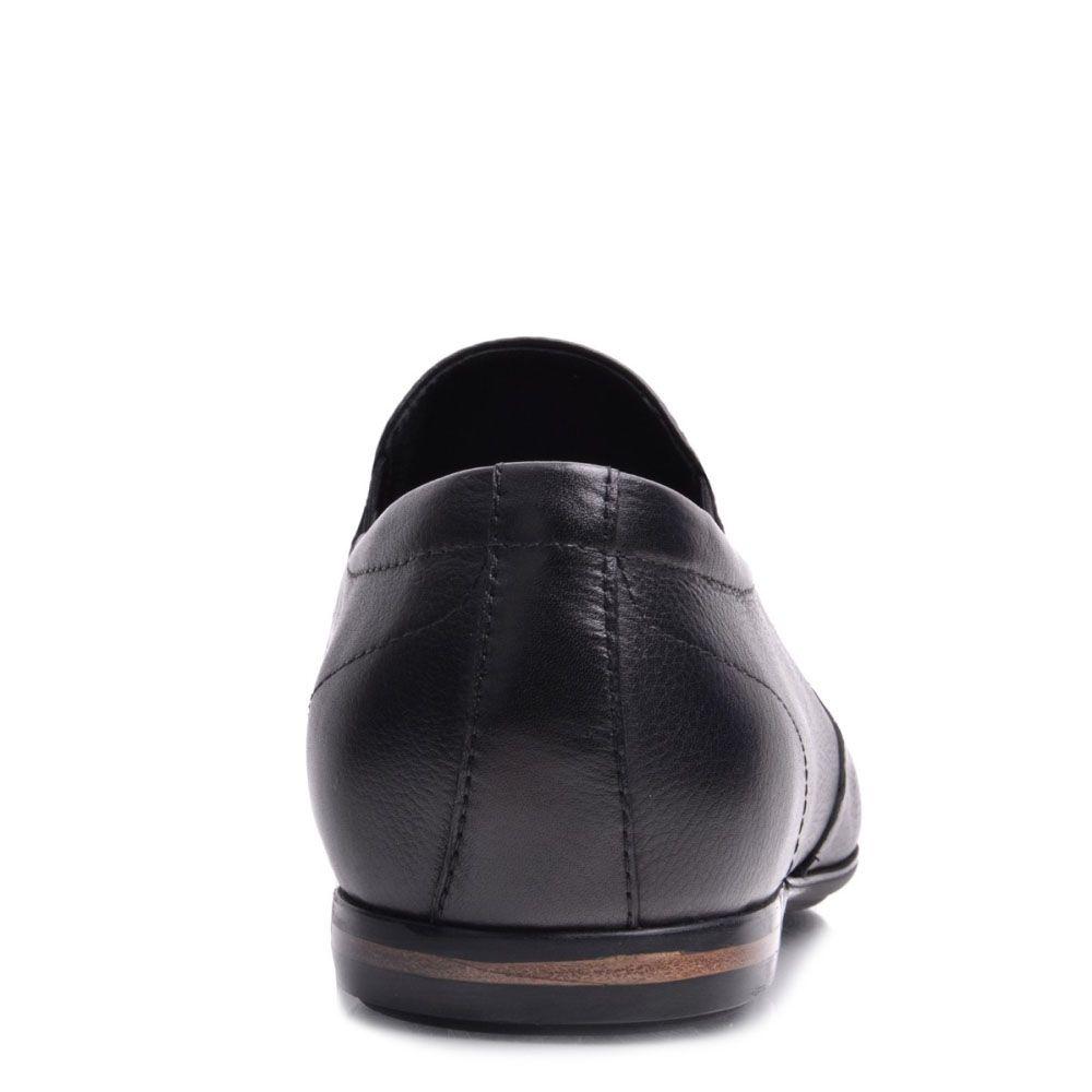 Туфли Prego из натуральной кожи черного цвета со вставками-резинками