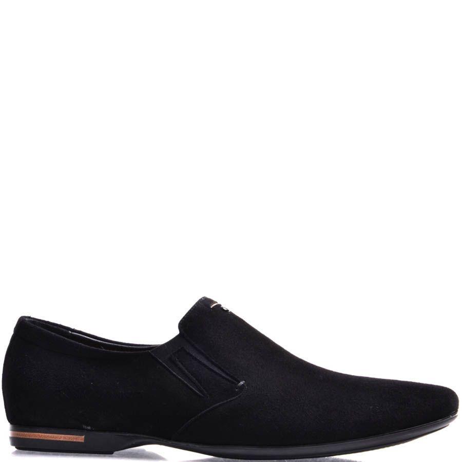 Туфли-лоферы Prego замшевые черного цвета