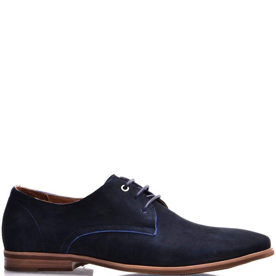 Туфли Prego из нубука синего цвета