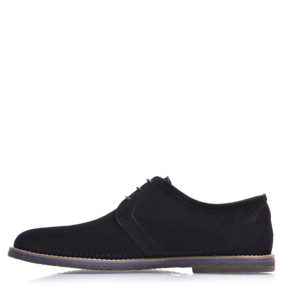 Туфли Prego мужские замшевые черного цвета
