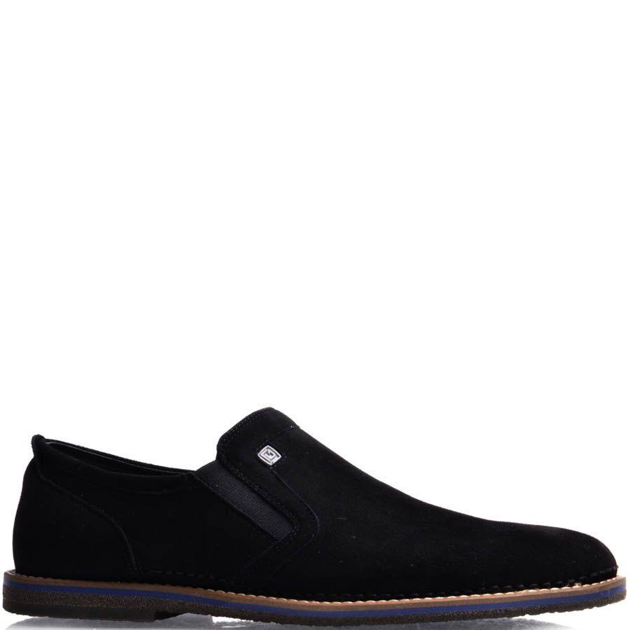 Туфли-лоферы Prego мужские замшевые черного цвета