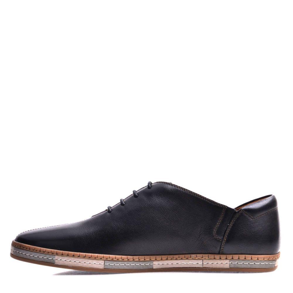 Туфли Prego мужские спортивные  с полосатой подошвой
