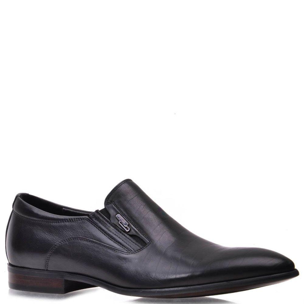 Кожаные туфли Prego черного цвета